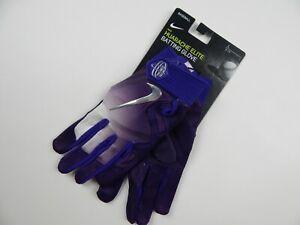 $80 Nike Baseball Huarache Elite Batting Gloves Purple Men's L New Large