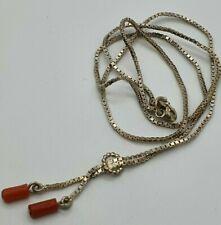 835 Silber Collier mit Korallen - 22.5.20