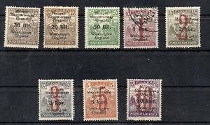 Old occupation stamps of West-Hungary IV. 1921 8 piece MLH-USED with guarantee