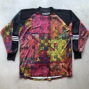 Rare VTG 90s Adidas Goalkeeper Goalie Abstract Print Soccer Football Jersey L/XL