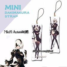 Game NieR:Automata YoRHa 2B Anime Mini Dakimakura Keychain Phone Charm Strap