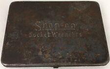 """Vintage Antique Snap On 1/4"""" Socket Set SAE Ratchet, Breaker, Driver & Tin Case"""