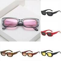 Retro Rectangle Sunglasses Uv400 Women Men Small Frame Vintage Sun Glasses AU