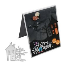 Halloween haunted house Cutting Dies Stencil DIY Scrapbook Embossing Paper Cards