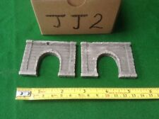 2x single tunnel  - Z scale gauge- painted and weathered-  Concrete Type