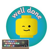 Teacher Reward Stickers 48 not personalised 30mm School Award Well Done