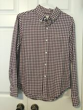 NWOT $285 BAND OF OUTSIDERS Red & Black Plaids Buttondown 100% Cotton Shirt SZ 2