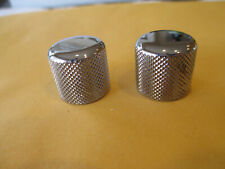 2 BC RICH GUITAR KNOBS FROM 2000's BRONZE MOCKINGBIRD - CHROME PUSH ON STYLE #4