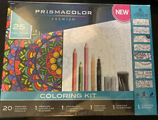 Prismacolor Premier 25pc Adult Coloring Book Kit - Pencils Blender Marker Eraser