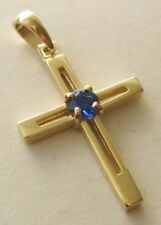 Gold Sapphire Lab-Created/Cultured Fine Jewellery