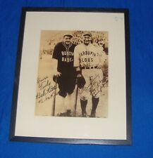 Babe Ruth and Lou Gehrig Framed Barnstorming Picture from October 13, 1927
