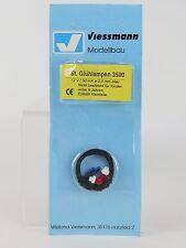 3500 VIESSMANN - ECHELLE H0 - ampoule 2,3MM. 3U. bleu / Pièce de rechange T 3/4