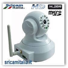 TELECAMERA IP CAMERA HD H.264 IR CUT SD INFRAROSSI WIRELESS WIFI WI-FI CAM  P2P