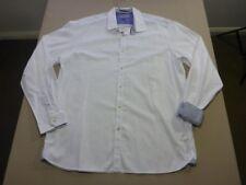 038 MENS NWOT TED BAKER WHITE PATTERNED L/S SHIRT SZE 17 $230 RRP.
