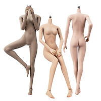 """JIAOU DOLL 1/6 Female Seamless Medium Bust Breast Body For 12"""" Hot Toys PHICEN"""