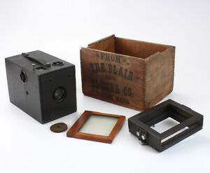 BLAIR KAMARET, 4X5, WITH ROLL FILM AND PLATE BACKS + ACCESS BOXED/cks/198900