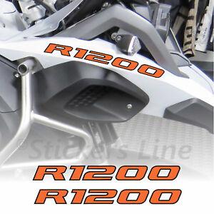 Adesivi BMW R1200 GS Adventure scritte adesive Becco Anteriore Arancio Nero