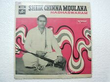 SHEIK CHINNA MOULANA  NADHASWARAM carnatic RARE LP CLASSICAL INDIA vg+