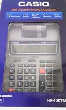 Casio HR-100TM Plus Mini Desktop Printing Calculator NEW