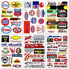 Cars Truck STP Esso 76 Nhra Nascar Racing D6055 Pack 6 Graphic Decals Stickers