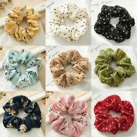 1×Summer Floral Hair Scrunchies Bun Ring Elastic Fashion Sports Dance Scrunchie