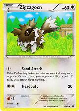 4x Zigzagoon - 111/160 - Common Primal Clash Pokemon Near Mint