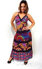 Vestido largo VIOLETA indio hindu ropa hippie algodon 100% (J-06)