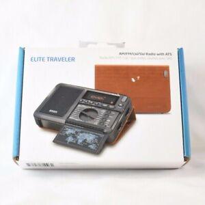 Eton Elite Traveler AM/FM/LW/Shortwave Radio w/ RDS & Custom Leather Carry Cover