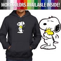 Snoopy Hug Woodstock Cute Peanuts Love Pullover Hoodie Jacket Hooded Sweater