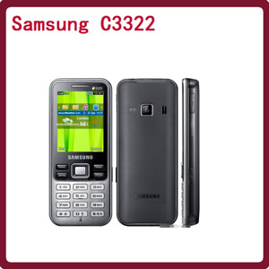 "Original Metallic Black Samsung C3322 Duos La Fleur 2.2"" Dual Sim 2MP Bluetooth"