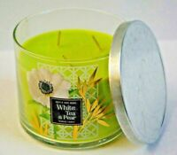 1 Bath & Body Works White Tea & Pear Bergamot Scented 3 WICK Candle 14.5oz