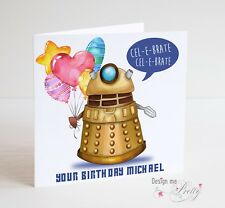 DOCTOR WHO PERSONALISED BIRTHDAY CARD - DALEK Timelord