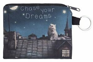 Chase Your Dreams Persian Cat Purse Small Ladies Women's Coin Card Holder Wallet