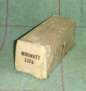 NOS Miniwatt 12F8 vacuum tube radio TV valve, TESTED