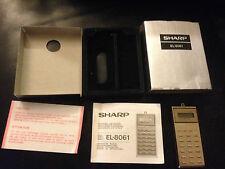 """SHARP ELSI-MATE """"HANG A ROUND"""" EL-8061 CALCULATOR RARE VINTAGE"""
