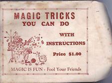 Magic Tricks You Can Use Catalog Warwick Press w Envelope & Cards