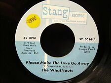 THE WHATNAUTS Please make the love go away STANG records st 5014