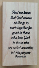 Mounted Rubber Stamp, Christian, Bible Verse, Favorite Bible Verses, Romans 8:28