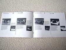 Oracle, Mark IV series turntable full line brochure