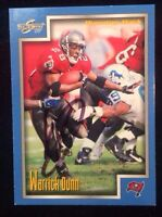 WARRICK DUNN 1999 SCORE Autographed Signed FOOTBALL Card BUCCANEERS 17