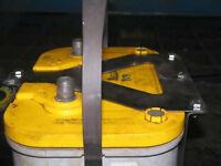 Optima D34 Battery box mount yellow red blue top offroad - STAINLESS STEEL