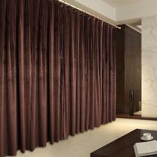 Vintage Style Eyelet Velvet Curtains, 2x140cmx213cm Drop,Chocolate AC194A
