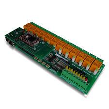 Modulo TCP/IP, Virtual Serial Port & WEB:12 Canali Relè, 16 analog/digital input