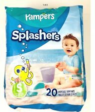 20 Pampers Splashers Small 13-24 Diapers Disposable Swimwear Baby Infant