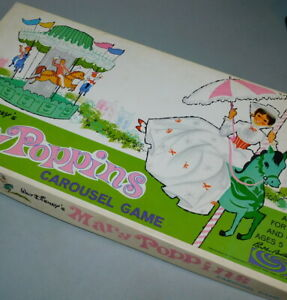 Mary Poppins Carousel board game, 1964 Walt Disney, Parker Brothers