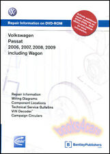 PASSAT SHOP MANUAL SERVICE REPAIR VOLKSWAGEN BOOK BENTLEY VW DVD 06-09