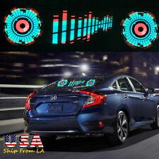 Car Sound Activated Equalizer Sticker Sensor Music Rhythm LED Flash Light Lamp