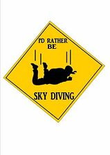 Sky Diving Sign  Retro Style Sign Kitchen Sign Sky Diving Wall Plaque