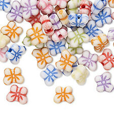 100 Lovely Mixed Colors Acrylic Butterfly Beads
