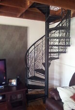 Wrought iron ornate bals'trade 1400 dim,$1540/M height spiral staircase